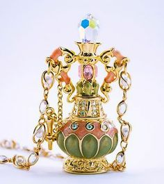 Kirks Folly Genie in a Bottle Necklace!  This is my most treasured piece and the bottle magically opens to reveal a removable Genie and a Lamp on a dangling chain!