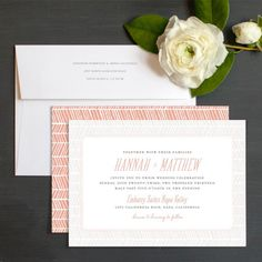 Herringbone Charm Wedding Invitations by Elli