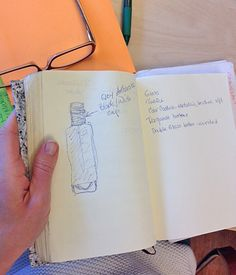 1st sketch of the bottle