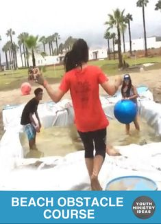 Check out this amazing obstacle course that @adamdgordon made for their #getupcdv beach summer camp! Youth Ministry Ideas and Games.