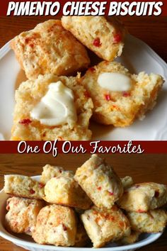 southern recipes Pimento Cheese Biscuits - The Southern Lady Cooks Brunch Recipes, Bread Recipes, Breakfast Recipes, Scones, Fun Cooking, Cooking Recipes, Pimento Cheese Recipes, Good Food, Yummy Food