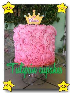 Roses cake smash cake punk princes pastel casero 100% fresh homemade baking #tulipáncupcakes en facebook