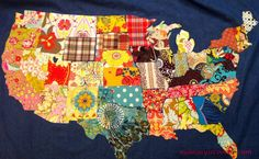 How to make a Fabric USA Map - Mommy Is Coo Coo