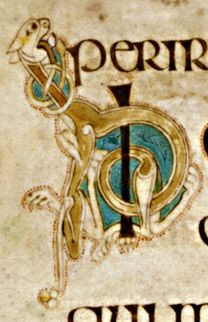 Book of Kells - initial letter H