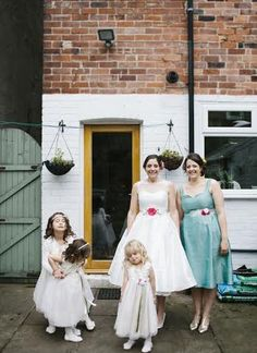 Clare married in May 2015, wedding dres and bridesmaid dress designed and handmade by Claire Amelia at The Bridal Emporium