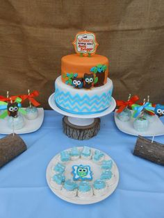 Owl Baby Shower Baby Shower Party Ideas | Photo 3 of 19 | Catch My Party