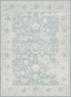 Features:  -Color: Light blue.  -Traditional style.  -Oriental pattern.  -Machine made.  -Polypropylene fibers with cotton backing.  -Use of rug pad recommended.  Distressed: -Yes.  Technique: -Machin