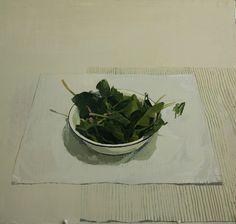 Alberto Romero Gil, cuenco con espinacas. www.albertoromerogil.com