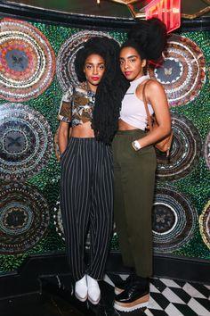 Tyrone Quann Cipriana Quann   New York Fashion Week's Party Animals - Takenya and Cipriana Quann