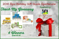 Welcome to the 2016 Epic Holiday Gift Guide Spectacular Perky Pets Giveaway! You can be 1 of 4 winners! A new winner every week in Dece. Holiday Gift Guide, Holiday Gifts, Learning Resources, Bird Feeders, Create Your Own, Gift Wrapping, Invitations, Teaching, Crafty