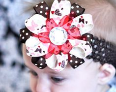 infant halloween bows - Google Search