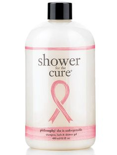 Philosophy Shower for the Cure Shampoo, Bath, Shampoo, Shower Gel. 100% goes to cancer research.
