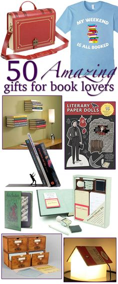 I've got to get #29 This is basically my Christmas wishlist. So many cool things for readers and book lovers!