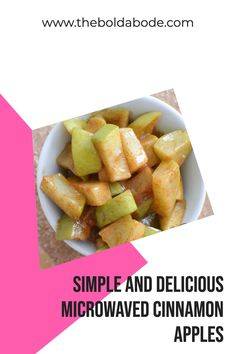 Here is a no fail, quick and easy recipe for cinnamon apples in the microwave! Cinnamon Recipes, Cinnamon Apples, Simple Recipes, Great Recipes, Learn To Cook, Food To Make, Recipe Boards, Recipes For Beginners, Quick Easy Meals