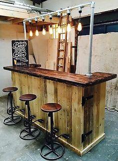 Diy Bar, Diy Home Bar, Home Pub, Bars For Home, Home Bar Decor, Backyard Bar, Patio Bar, Porch Bar, Rustic Basement Bar