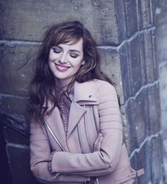 Louise Bourgoin #jacket #pink #beautiful