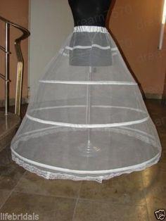 new white 3 hoop petticoat crinoline underskirt for - Jupon Mariage 3 Cerceaux