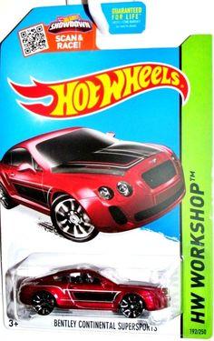Bentley Continental Supersports 2015 Hot Wheels #192/250 HW WORKSHOP-Speed Team #HotWheels #Ford
