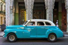 A classic American car on a Cuban street. - Jeffrey Milstein/REX