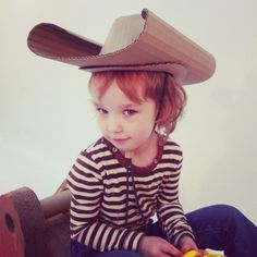 Cardboard cowgirl hat!)))