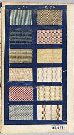 Textile Sample Book c1771 The listing has 49 pages of fabric samples!