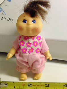 1995 Cabbage Patch Kid Mini Bedtime Doll Vintage Used