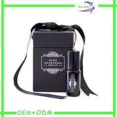 Personalized Skin Care Paper Perfume Box Packaging black Color