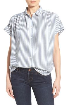 Madewell 'Central' Stripe Cotton Shirt