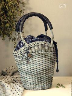 """Купить сумочка плетеная """"Милена"""" - серый, сумочка, плетеная, летняя, мода 2017, корзинка"""