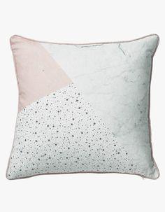 Broken Glamour Cushion - Pink/White - $89 NZD