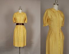 vintage 1950s dress 50s dress wiggle silk by NodtoModvintage  Womens fashion