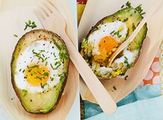Täytetyt avokadot syntyvät pikaisesti piknikevääksi, mutta toimivat myös aamiaisella.