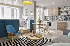 Interior TR – это уютный интерьер однокомнатной квартиры от студии INT2 Architecture в Москве, Россия.Это крохотное пространство площадью всего лишь 40 квадратных метров предназначено для совместного проживания молодой пары до момента покупки более просторного жилья.В данном проекте были выделены основные зоны: спальня и рабочее пространство, гостиная, столовая, кухня и даже бар на балконе. Также уместилась и гардеробная, ванная комната и небольшое пространство для прачечной. Все это…