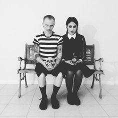 Wednesday and Pugsley Addams Cosplay. Halloween costumes (2015)