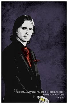 Mr. Gold Rumplestiltskin Portrait Poster with by BlueBoxesEtc