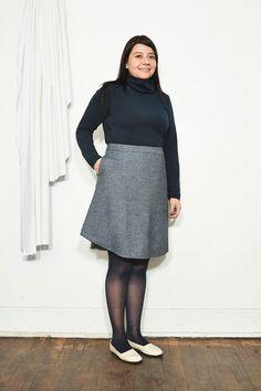 ATELIER B ATELIER B JUPE LIGNE A 1656W VERT/SPECKLE Sarah C, Montreal, Mini Skirts, Normcore, Collection, Fashion Design, Clothes, Women, Minimalist Clothing