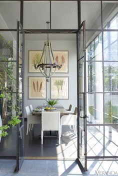 greige: interior design ideas and inspiration for the transitional home : Grey and light. Loving the steel windows and doors! Steel Doors And Windows, Veranda Magazine, New Orleans Homes, Transitional House, Deco Design, Design Design, Graphic Design, Home Interior, Interior Decorating