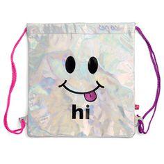 Holographic Hi Bye Cinch Bag