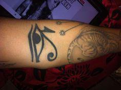 #Tattoo #eye #of #Horus #tiger #men #casual #ink #sleeve