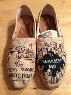 Harry Potter Shoes (TOMS version). $95.00, via Etsy.  Though I'd like to make my own