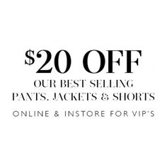 $20 OFF Best Selling Pants, Jackets & Shorts @ Jacqui E. - Bargain Bro