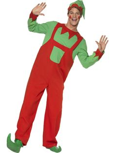 Adult Elf Costume Men Women Christmas Xmas Fancy Dress FAST DELIVERY  406b6ec1b