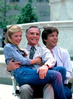 Taylor Miller (who played Nina Cortlandt), the late James Mitchell (who played Nina's father, Palmer Cortlandt), and Peter Bergman (who played Cliff Warner) - All My Children