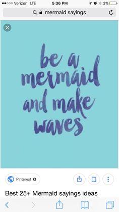 Mermaid Art Quote