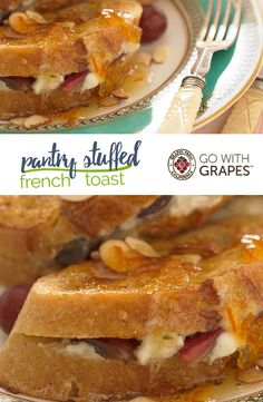 Go with California grapes to add a fresh burst of flavor to a breakfast favorite when you try this Pantry Stuffed French Toast recipe. Grape Recipes, Brunch Menu, Healthy Choices, Pantry, Breakfast Recipes, French Toast, California, Fresh, Easy