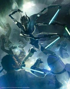 Star wars battle. General grievous