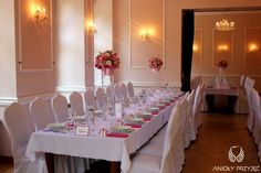 9. Pink Wedding,Centerpieces / Różowe wesele,Anioły Przyjęć