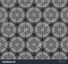 volume seamless pattern of abstract floral ornament. raster copy illustration. black and white. for design, interior, wallpaper, invitation