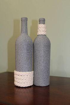 Wine Bottle Decor Wine Bottle Decorburlap Twine & Lace Centerpiece  Wine Bottle