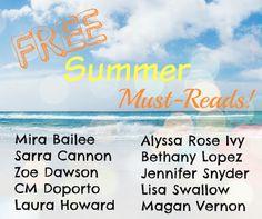 Kick-Start Your Summer With These 10 FREE Must-Reads…   Spreading the Word & Blog Tour  #MiraBailee #SarraCannon #ZoeDawson #CMDoporto #LauraHoward #AlyssaRoseIvy #BethanyLopez #JenniferSnyder #LisaSwallow #MaganVernon